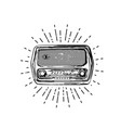 old vintage radio vector image vector image