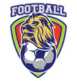 pattern sport badge for team with lion and ball vector image