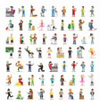 people characters collection cartoon set vector image vector image
