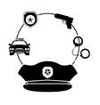police icon image vector image vector image