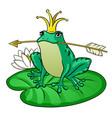princess frog pop art vector image vector image