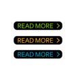 read more button set colorful web element vector image vector image