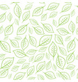 seamless linear pattern floral ornament of vector image vector image
