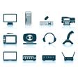 Set of hardware icons