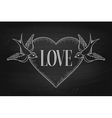 Set of old vintage ribbon banner with word Love vector image vector image