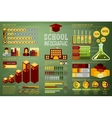 Set of School Infographic elements with icons vector image vector image