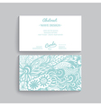 simple business card template with decorative vector image