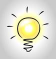 Sketch of light bulb vector image