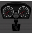 Speedometer and gear box vector image
