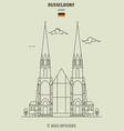 st maria empfaengnis in dusseldorf vector image vector image