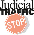 stop sign icon judicial traffic vector image