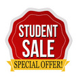 student sale label or sticker vector image vector image