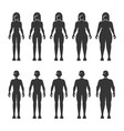 thin normal fat overweight man and woman body vector image