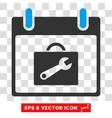 Toolbox Calendar Day Eps Icon vector image