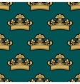 vintage golden royal crowns seamless pattern vector image vector image