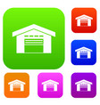 warehouse set collection vector image vector image