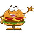 Waving Hamburger Cartoon vector image vector image