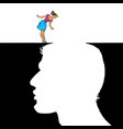 woman and man love concept vector image