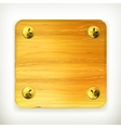 Wooden board with screws vector image vector image