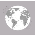 World globe background for communication vector image