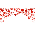 hearts romantic background for you design vector image