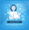 learning training education online concept web vector image