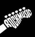rock music lettering vector image