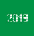 2019 white rounds numbers vector image