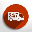 24 hour delivery web icon vector image
