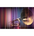 abstract blur background with trumpet vector image vector image
