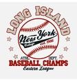 Baseball t-shirt vector image vector image