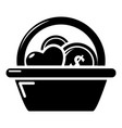 basket donate icon simple black style vector image