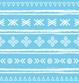 blue and white ikat tribal seamless pattern vector image vector image