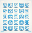 Blue icons vector image