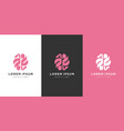brain logo design line art vector image