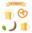 bright cartoon oktoberfest attributes vector image
