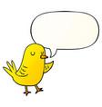 cartoon bird and speech bubble in smooth gradient vector image vector image