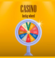 casino lucky wheel concept background realistic vector image