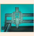 cnc machine for 3d carving retro poster vector image vector image