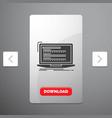 code coding computer monoblock laptop glyph icon vector image