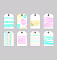collection of cute gift tags vector image vector image