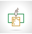 Color line candle icon vector image vector image