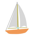 color sail boat vector image vector image