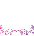 color silhouette cute fashion patches background vector image