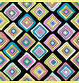 colored rhombus geometrical wrapping paper vector image vector image