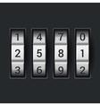 Combination lock number code on dark background vector image