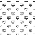 Computer monitor pattern simple style vector image vector image