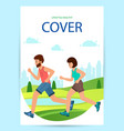 cover book active people running distance vector image