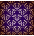 damask seamless on violet background vector image vector image
