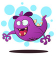 evil fly monster - cartoon vector image vector image